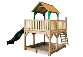 Maison Enfant Bois Atka + Toboggan