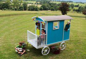 Maison Roulotte Bois pour Enfant Carry