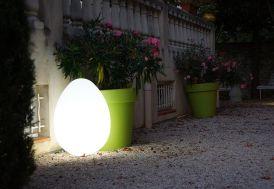 Oeuf Lumineux Blanc 50x50x68cm