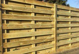 panneau de clôture en bois droit 180 cm traités