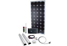 panneau solaire 100W pour toit de caravane profilés inclus