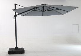 Parasol Déporté en Aluminium avec Toile Polyester + Pied