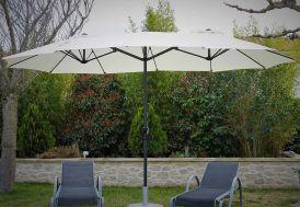 Parasol en aluminium avec grande toile en polyester 465 cm