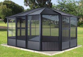 Pavillon de jardin fermé en métal Sojag Charleston 14,7 m²