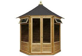 Kiosque de Jardin Hexagonal en Bois Pavillon Aquitaine 4 à 6 m²