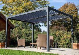 pergola bioclimatique en aluminium avec lames orientables 90°
