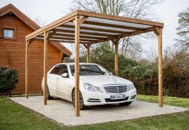 tonnelle en bois massif avec couverture en PVC 5 x 3 m