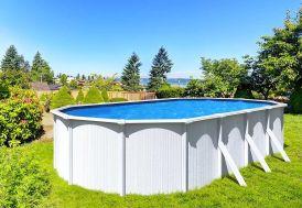 piscine en métal blanche hors sol 7,60 m Trigano Abak