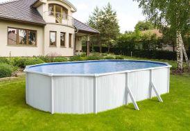 piscine en métal blanc grande piscine hors sol ovale de 8 m