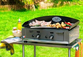 Plancha PL 600 G Gaz Double 5500W Emaillee