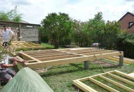 Plancher Bois + Laine de Bois pour Studio 515x495cm