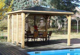 Pool House en Bois 2 Parois Blueterm 12 m²
