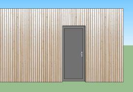Porte d'Entrée en Aluminium 90x215 cm pour Bungalow Design Studio