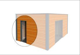 Porte Fenêtre à 1 Vantail 80x215 cm (l,h)