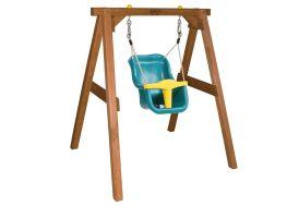 portique en bois de hemlock pour bébé sécurisé