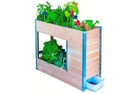 Potager surélevé en bois avec bac à compost pour balcon Balcomposteur Mon Petit Potager