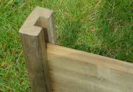 Poteaux de Fin Rainurés en Bois (4,5x9x240) - A partir de 2