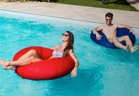 Pouf Géant pour Piscine Donut Swimming Bag