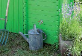 Cuve recuperateur eau carré en bois 320 L