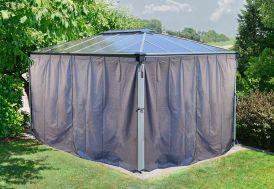 Set 4 Rideaux pour Tonnelle Design Aluminium 430 x 295