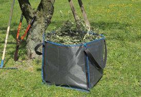 Sac de jardin en polypropylène noir 250 litres pour végétaux