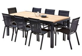 salon de jardin pour manger en extérieur jusqu'à 12 personnes