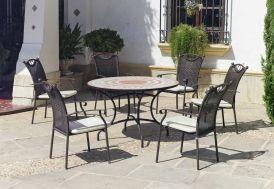 salon de jardin style provençal avec table ronde