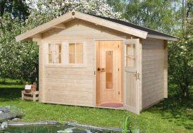 Sauna d'Extérieur Rovaniemi 2 (Abri+Sauna+Poêle)