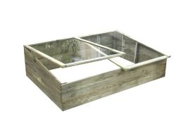 serre châssis en bois avec vitre en plexiglass 287 L