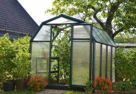 serre de jardin en polycarbonate Palram verte 2 x 2,5 m