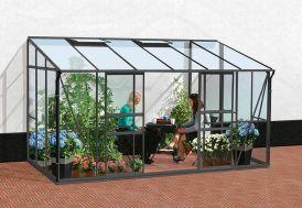 Serre de jardin Lams 7,7 m² Melissa 7800 Lams en alu gris anthracite