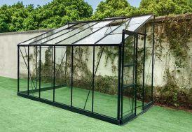 Serre de Jardin Adossée en Aluminium et Verre Trempé Green Protect Prima 7,22 m²