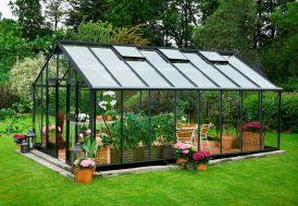Serre de jardin Juliana Gardener 21 m² en aluminium et verre trempé