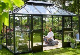 Jardin d'hiver Juliana Grand Oase 13 m² en aluminium et verre trempé