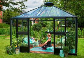 Jardin d'hiver en aluminium et verre trempé Juliana Oase 13,5 m²