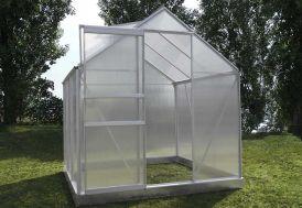 Serre de jardin en aluminium et parois polycarbonate 4 mm  2,4 m²