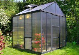 Serre de Jardin en Aluminium et Polycarbonate Glory 6 m² Extérieur