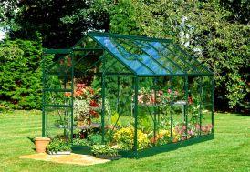 Serre de Jardin en Aluminium et Verre Horticole Halls Popular 106 Vert