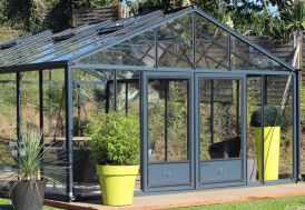 Serre de Jardin en Aluminium et Verre Trempé Lams Supra 27,8 m² Anthracite