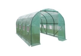 Serre de Jardin Tunnel 12 m² en Polyéthylène vert renforcé
