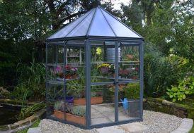 Serre de Jardin Hexagonale Aluminium/Polycarbonate Oasis 6,1 m² Fermée