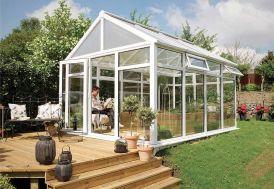 Jardin d'Hiver Crête en PVC-U et Double Vitrage 12,85 m²