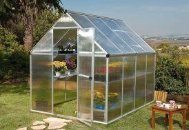 serre de jardin en aluminium et panneaux double paroi polycarbonate
