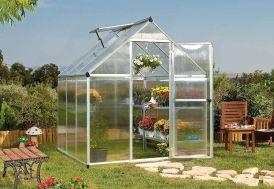 serre de jardin Palram Mythos 6x6 en aluminium et polycarbonate
