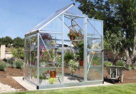 serre de jardin polycarbonate aluminium palram Harmony Silver