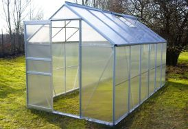 serre de jardin en polycarbonate et aluminium de superficie 7 m2