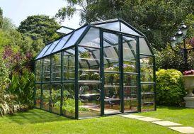 Serre de jardin en polycarbonate transparent et PVC vert Palram