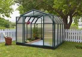 serre de jardin en polycarbonate et en PVC vert Palram