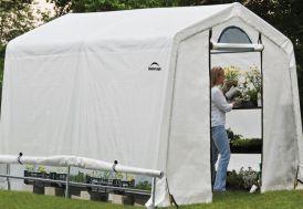 Serre de jardin en acier enduit et polyéthylène 6 m²