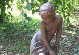 Statue de Jardin Fonte Jeune Fille Sortant du Bain